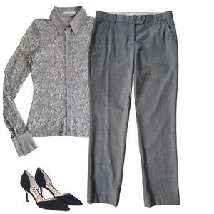 Theory Stretch Wool Ankle Pants